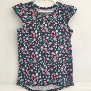 GIRLS Jumping Beans Multi-color Floral Shirt SZ 7
